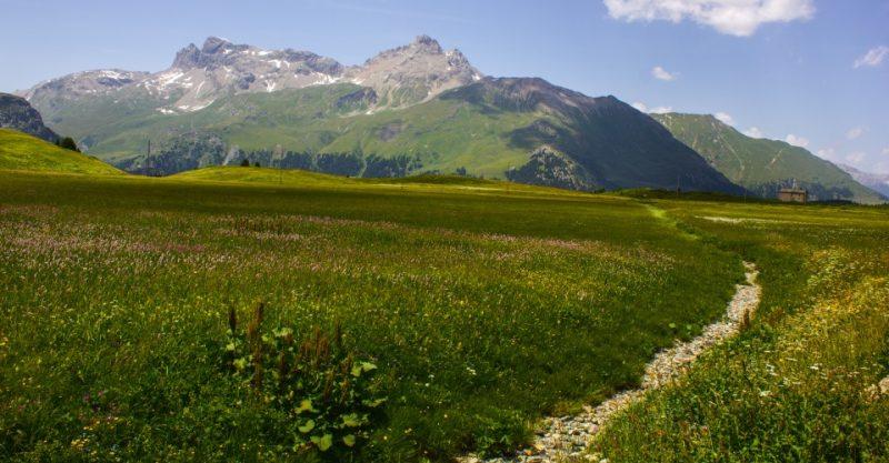 Wanderweg in Graubünden