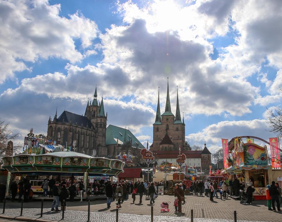 Erfurter Altstadtfrühling vor dem Dom