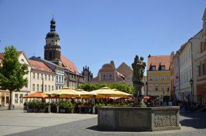 Martkbrunnen am Altmarkt in Cottbus