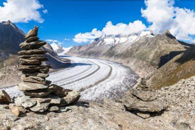 Aletschgletscher im Kanton Wallis