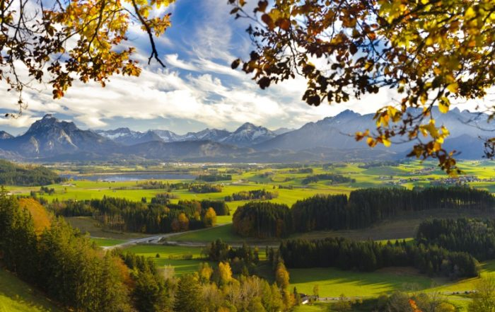 Herbststimmung in Oberbayern am Hopfensee
