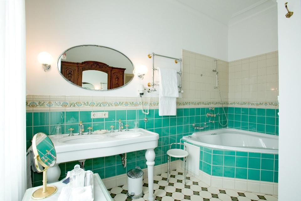 Badezimmer Belle Epoque, Hotel Der kleine Prinz Baden-Baden