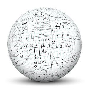 Kugel mit mathematischen Formeln