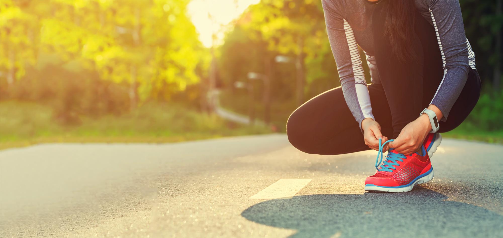 Frau beim Joggen - Sport und Spaß