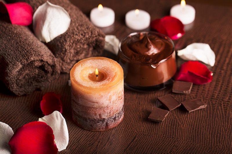 Schokoladenpackung im SPA