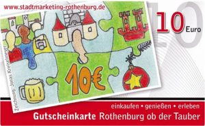 Gutscheinkarte Rothenburg ob der Tauber - Stadtmarketing Rothenburg