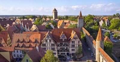Blick auf Rothenburg ob der Tauber und das Prinzhotel