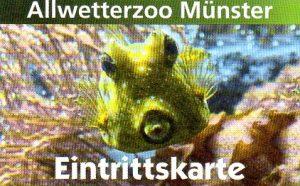 Eintrittskarte für den Allwetterzoo Münster