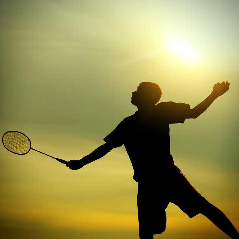 Badminton Spieler, Crossminton