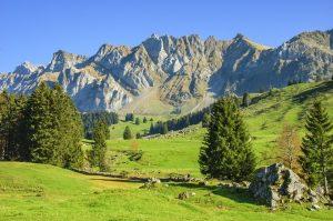 Herbstliche Idylle am Säntis in der Schweiz