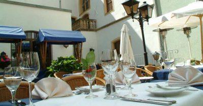 Hofterrasse Romantik Hotel Tuchmacher in Görlitz