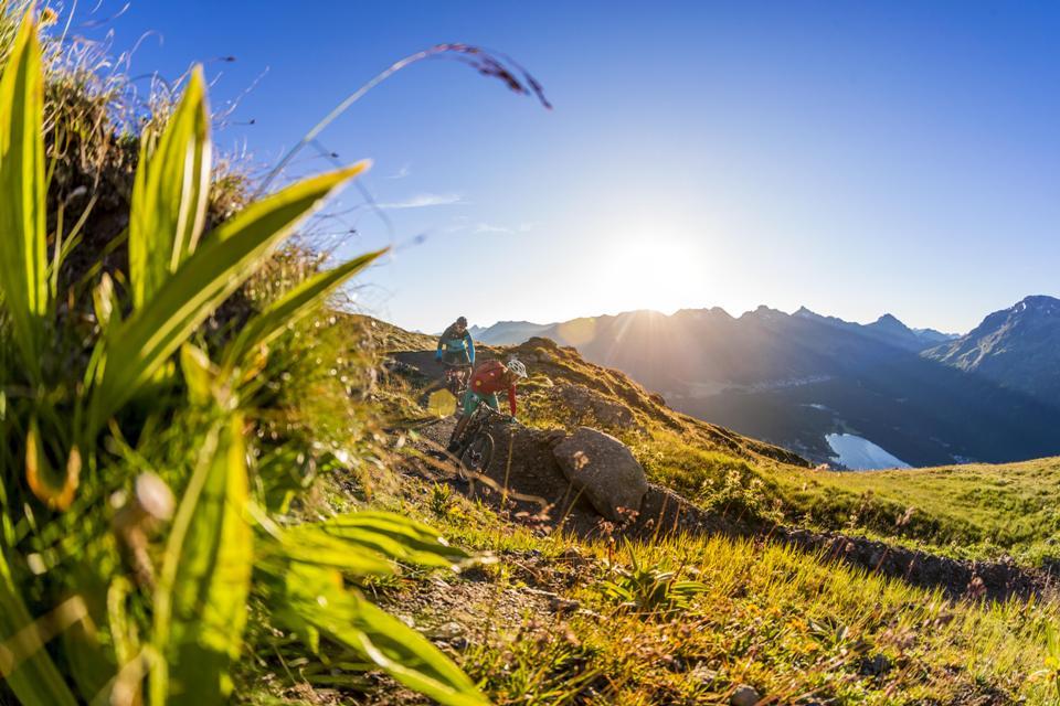 Die Flowtrails auf Corviglia gehören in jedem Fall zu den Strecken der TRAIL GAMES Mitte August. Foto: Engadin St. Moritz Mountains/Markus Greber