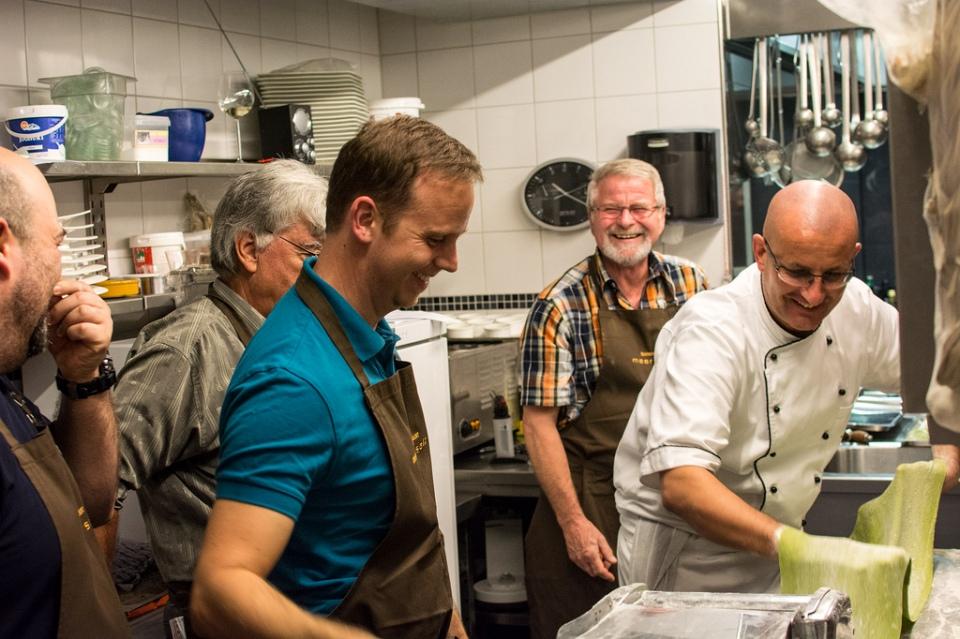 Beim Kochen, Boutique Hotel Friesinger