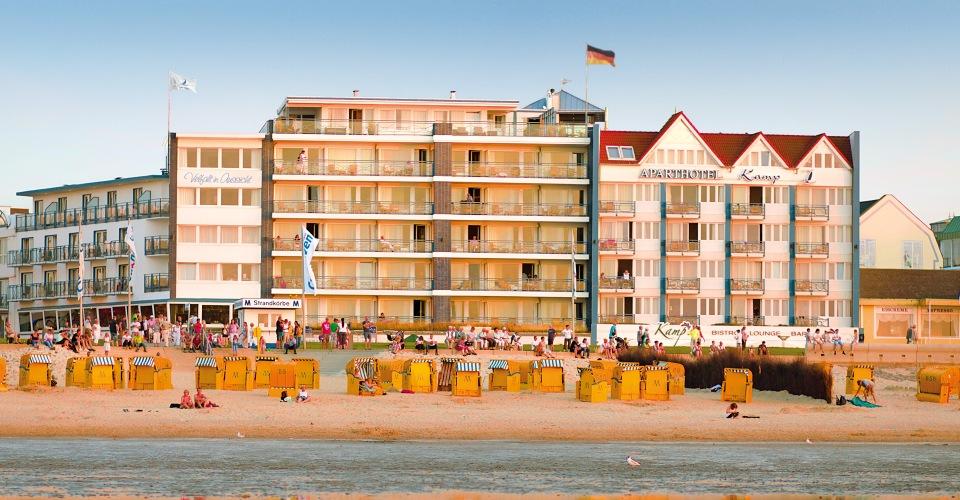 Ansicht Strandhotel Duhnen mit Aparthotel Kamp