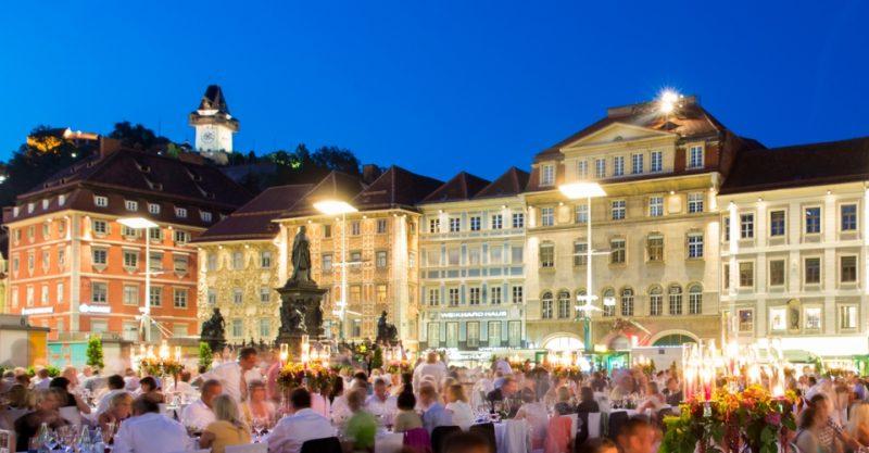 Lange Tafel der GenussHauptstadt Graz