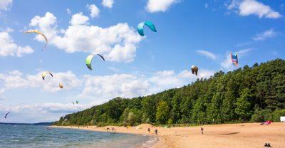 Kite surfing am Brombachsee, Fränkisches Seenland