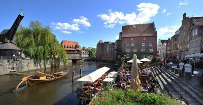 Lüneburger Altstadt am Heideradweg
