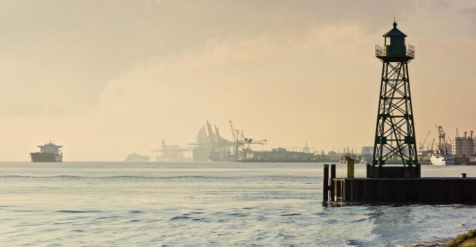 Blick vom Lunedeich – Bremerhaven