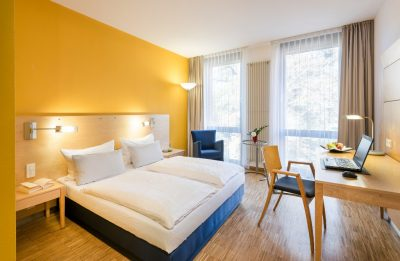 Queensize-Zimmer im Hotel Arcadeon