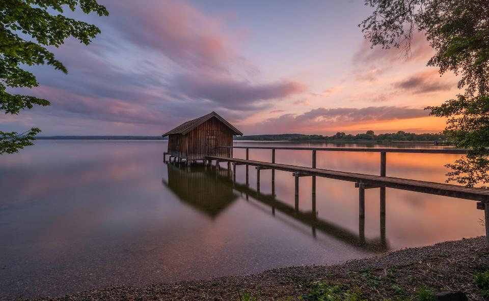 Sonnenuntergang am Ammersee, Fünf-Seen-Land
