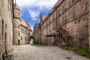 Mittelalterliche Festung Rosenberg in Kronach, Franken