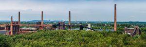 Panorama der Kokerei der Zeche Zollverein Essen