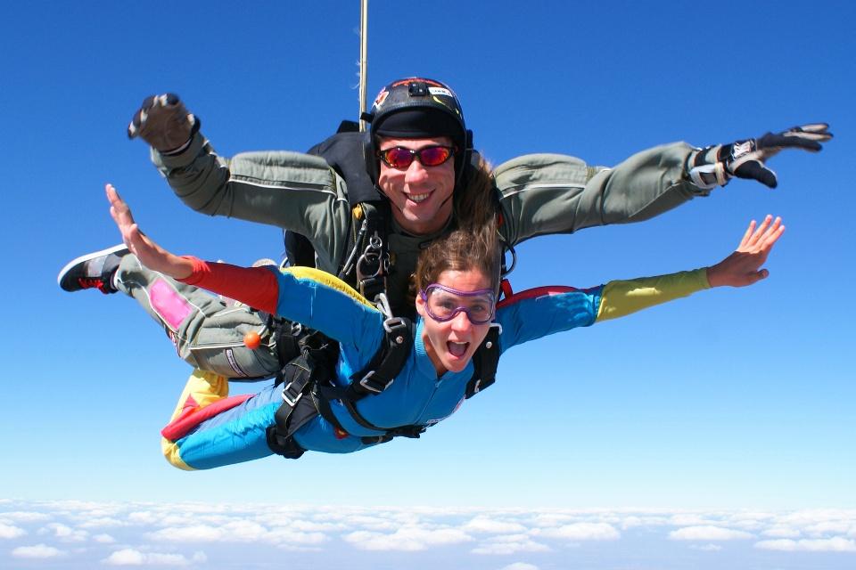 Tandemsprung, Fallschirmspringen