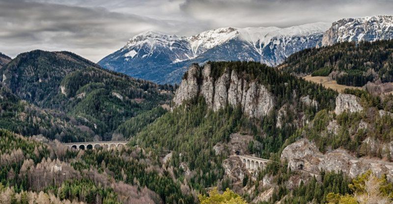 Semmeringbahn in den Wiener Alpen