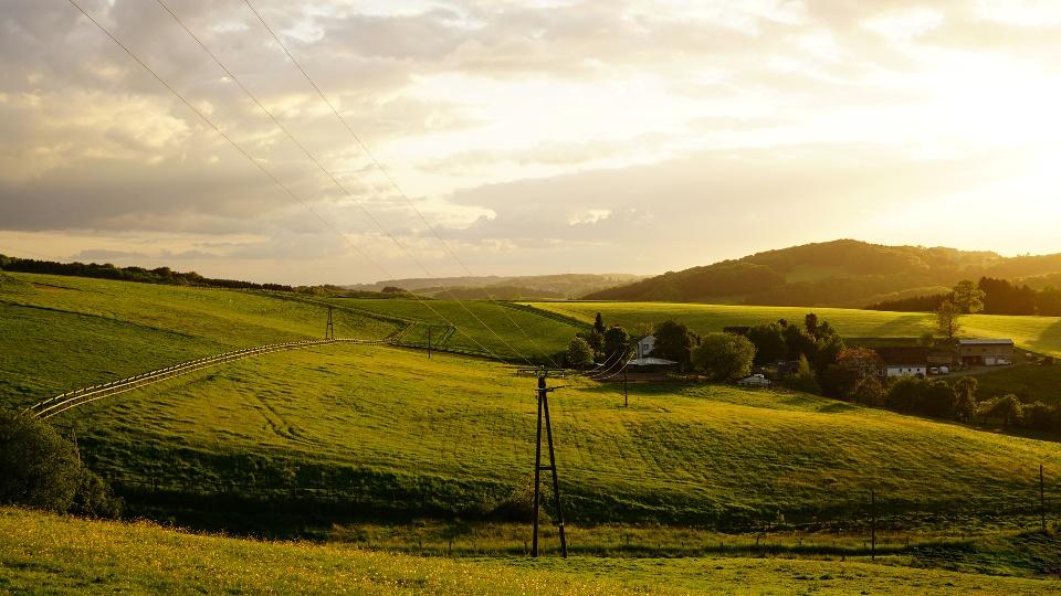 Sonnenuntergang im Bergischen Land - Der Bergische Panoramasteig