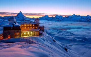 Gornergrat Zermatt mit Blick aufs Matterhorn - Wintersportorte