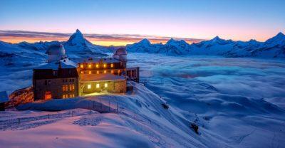 Gornergrat Zermatt mit Blick aufs Matterhorn
