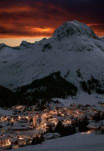 Lech. Österreich, Wintersportorte