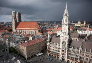 Marienplatz München bei Sturm