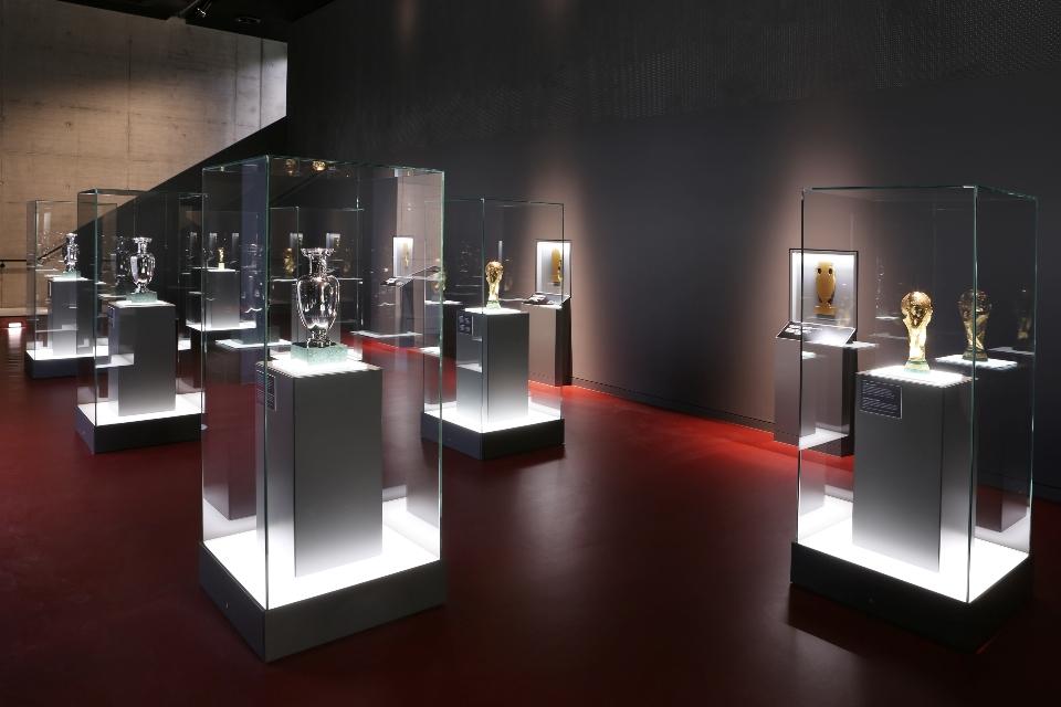 Die Schatzkammer im Deutschen Fußballmuseum