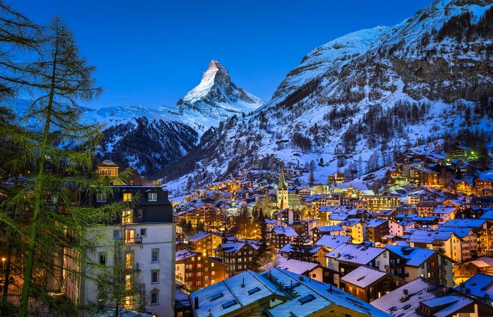 Zermatt. Schweiz, Wintersportorte