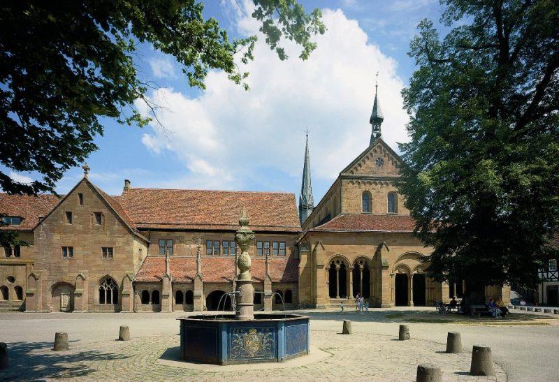 Kloster Maulbronn, Ansicht der Westseite der Klausurbauten