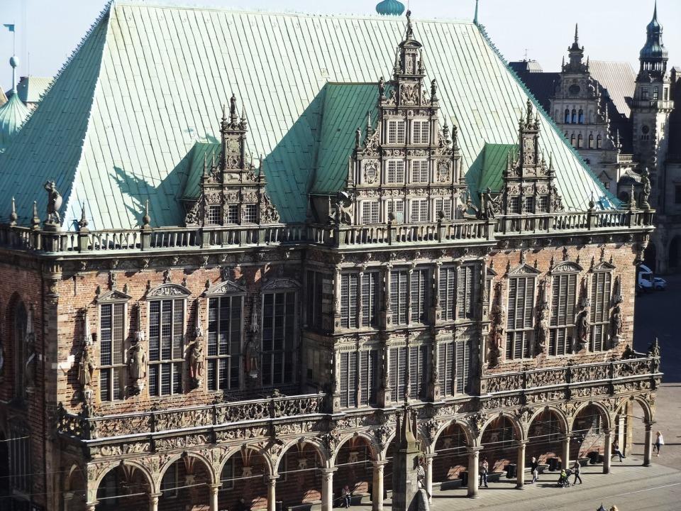 Bremer Rathaus von oben
