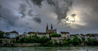 Basel bei Gewitter