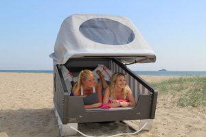 Schlafen im Strandkorb