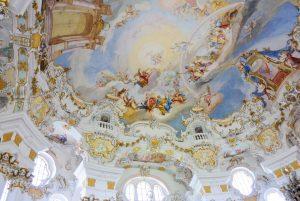 Kuppelfresko der Wieskirche