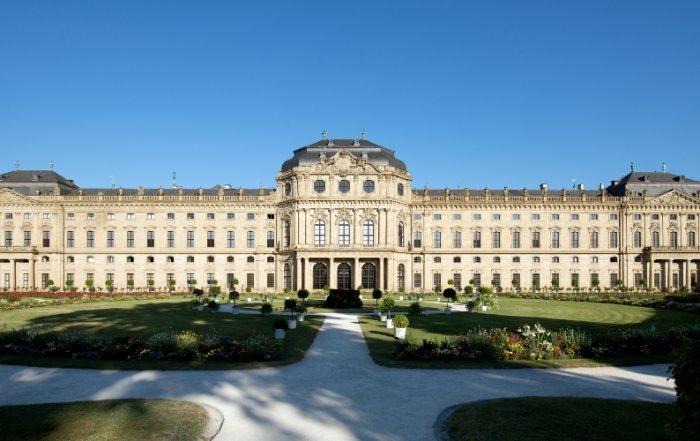 Residenz Würzburg, Ostfassade mit Ostgarten