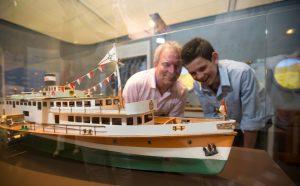 Schiffsmodell der Goethe im Romanticum Koblenz
