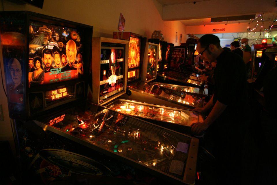 Flipperautomaten im Retro Games Museum