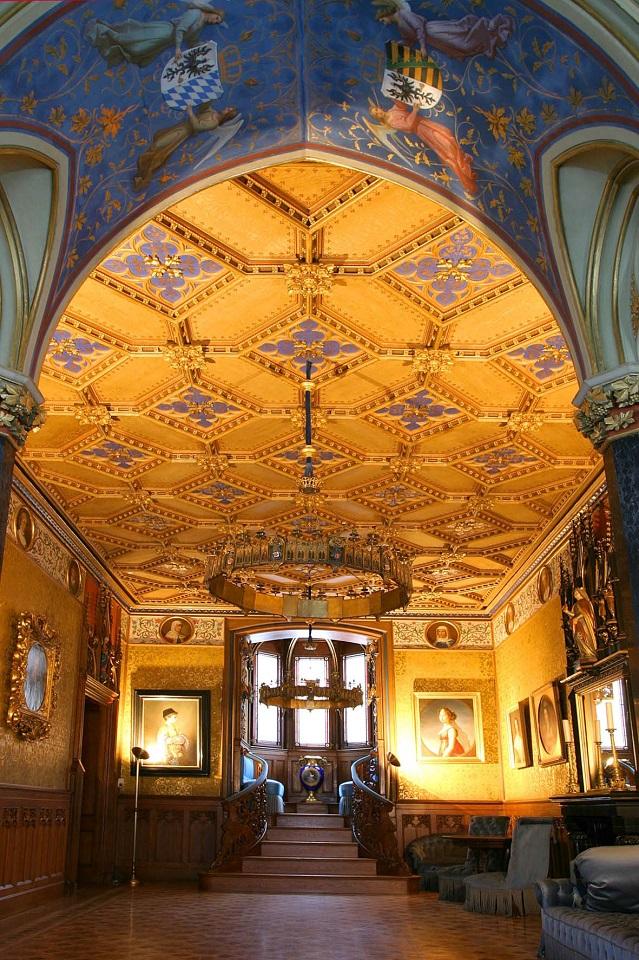 Blauer Salon der Burg Hohenzollern