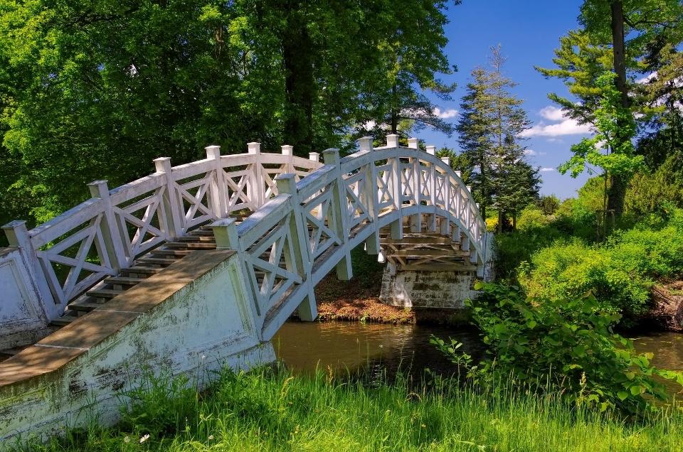Weiße Brücke im Wörlitzer Park, Gartenreich Dessau-Wörlitz