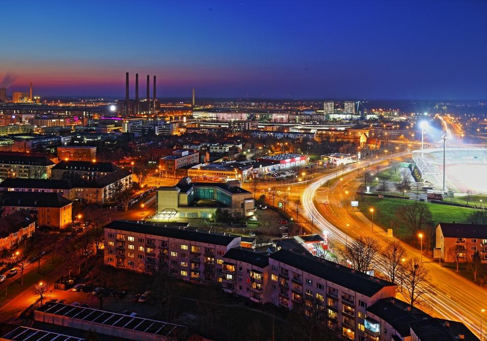 Skyline von Wolfsburg