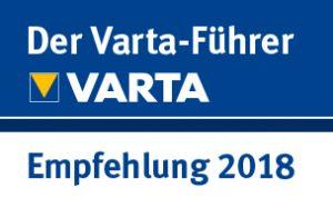 Varta-Führer Online-Empfehlungs-Siegel 2018