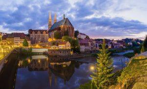 Peterskirche Görlitz mit Neisseblick - Drehorte in Deutschland