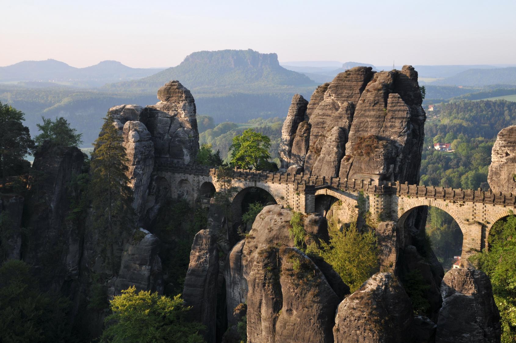 Die Bastei in der Sächsischen Schweiz