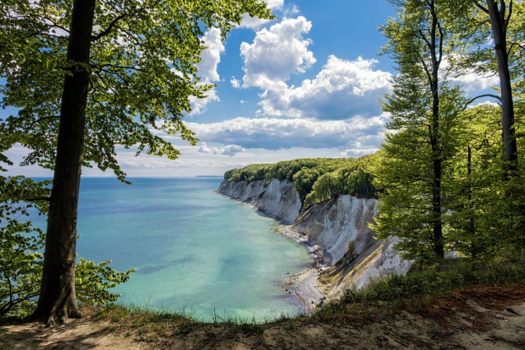 Buchenwälder und Kreidefelsen auf der Insel Rügen
